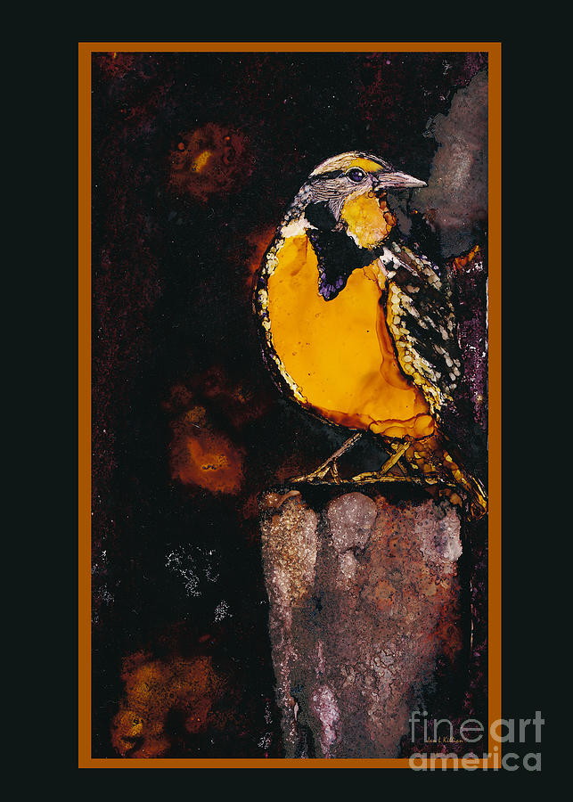 Meadowlark Painting - Meadowlark by Jan Killian