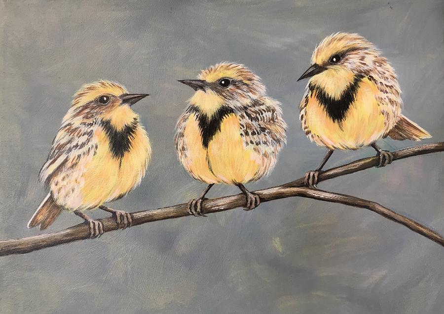 Birds Painting - Meadowlarks  by Glenda Stevens