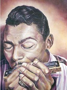 Blues Music Painting - Mean Ol World by Brett Caplinger