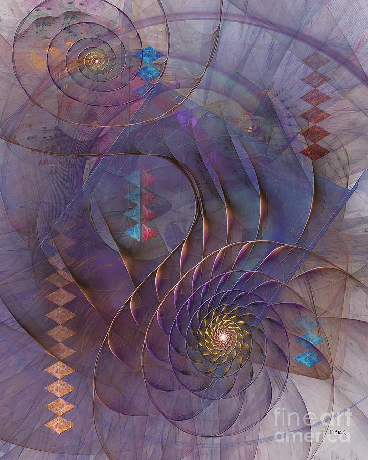 Abstract Digital Art - Meandering Acquiescence by John Robert Beck