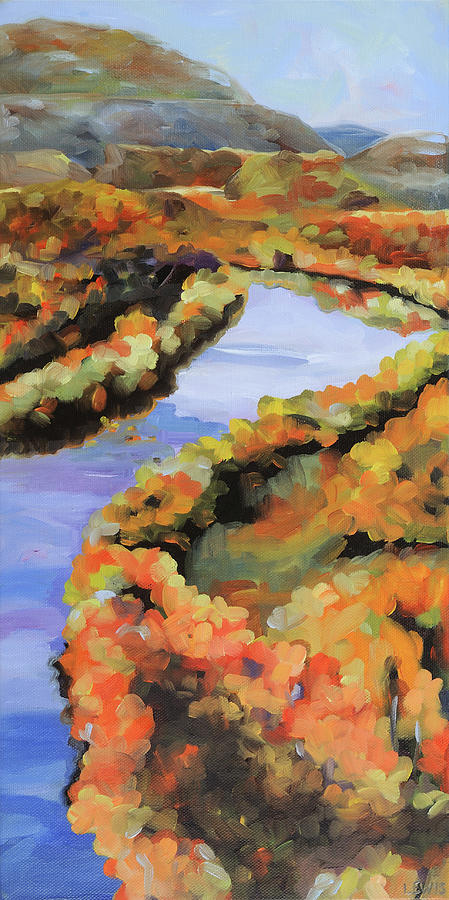 Shenandoah River Painting - Meandering Shenandoah by Anne Lewis