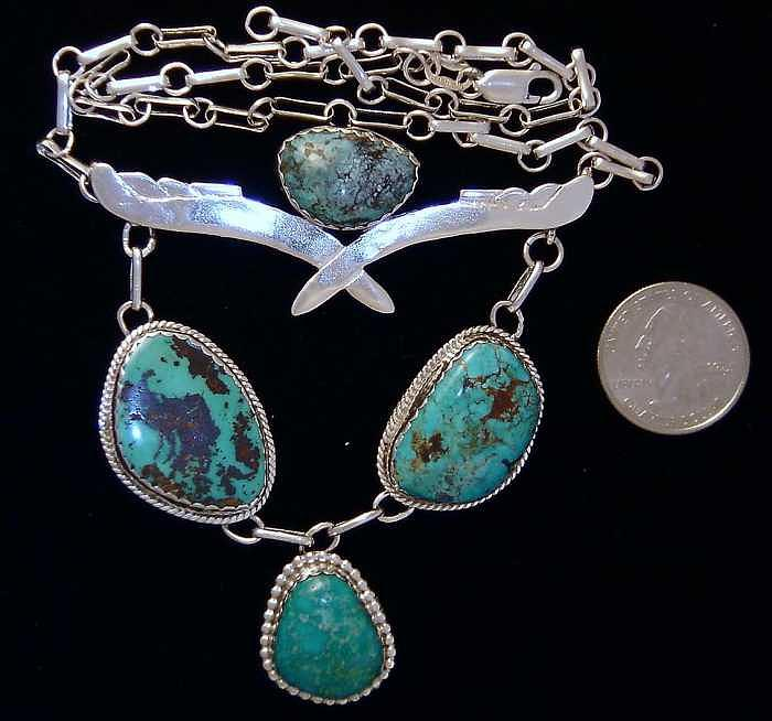 Az Jewelry - Measas Turquoise Necklace by Hal Sharpe