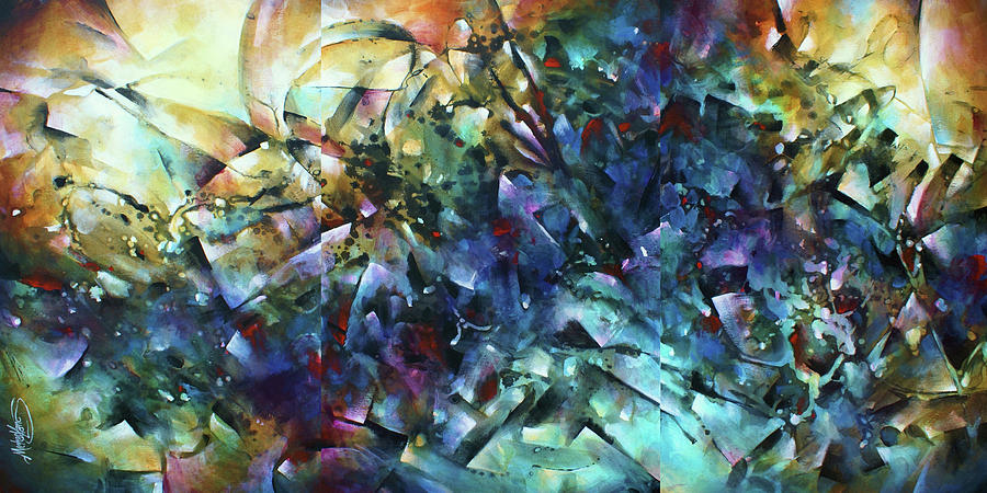 Abstract Painting - Measure Of Time by Michael Lang