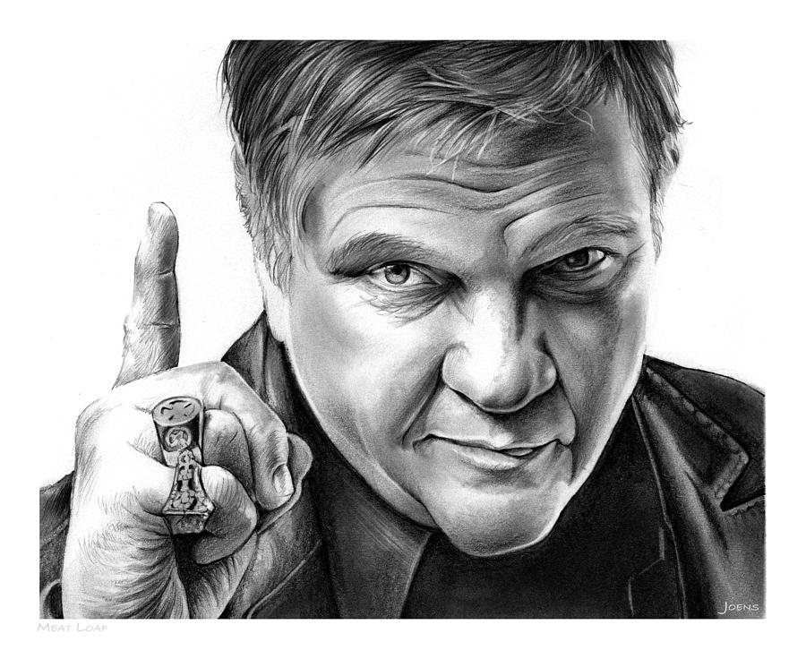 Meat Loaf Drawing