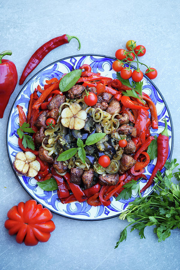 Meat With Vegetables Photograph