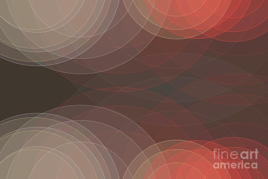 Abstract Digital Art - Mechanic Semi Circle Background Horizontal by Frank Ramspott