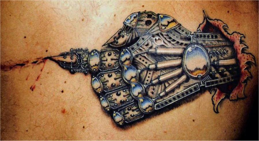 Mechanical Hand Tattoo Photograph by Martin Girolami