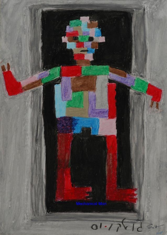 Children Painting - Mechanical Man by Harris Gulko