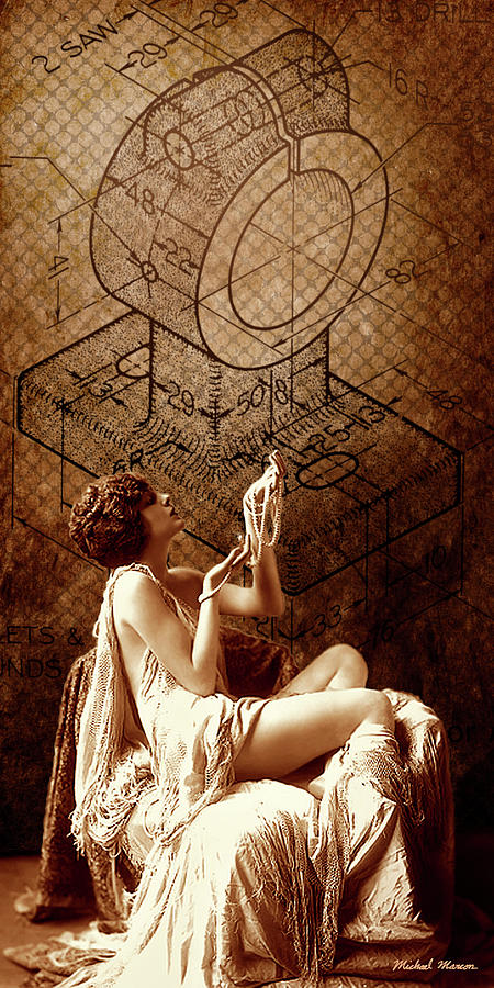 Erotic Digital Art - Mechanical Muse 05 by Michael Mathews