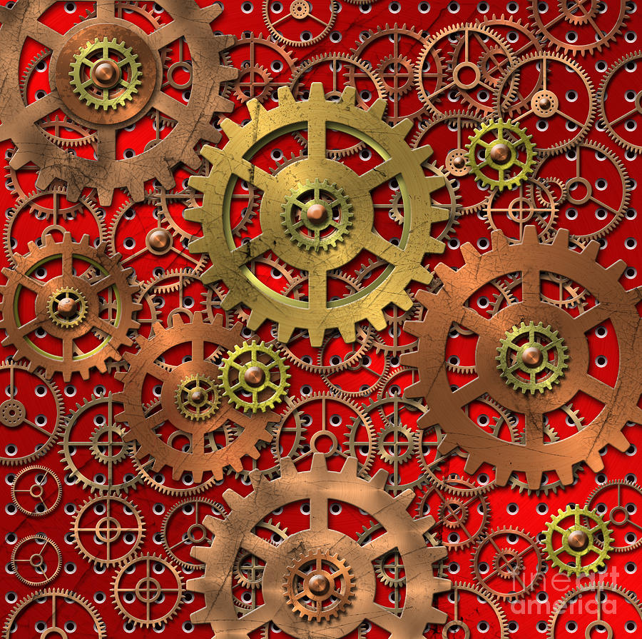 Mechanical Digital Art - Mechanism by Michal Boubin