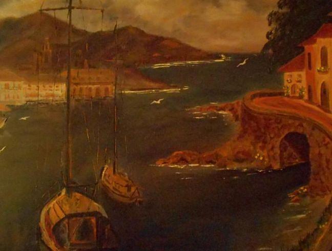 Landscape Painting - Med Scene by Dana DeCecco