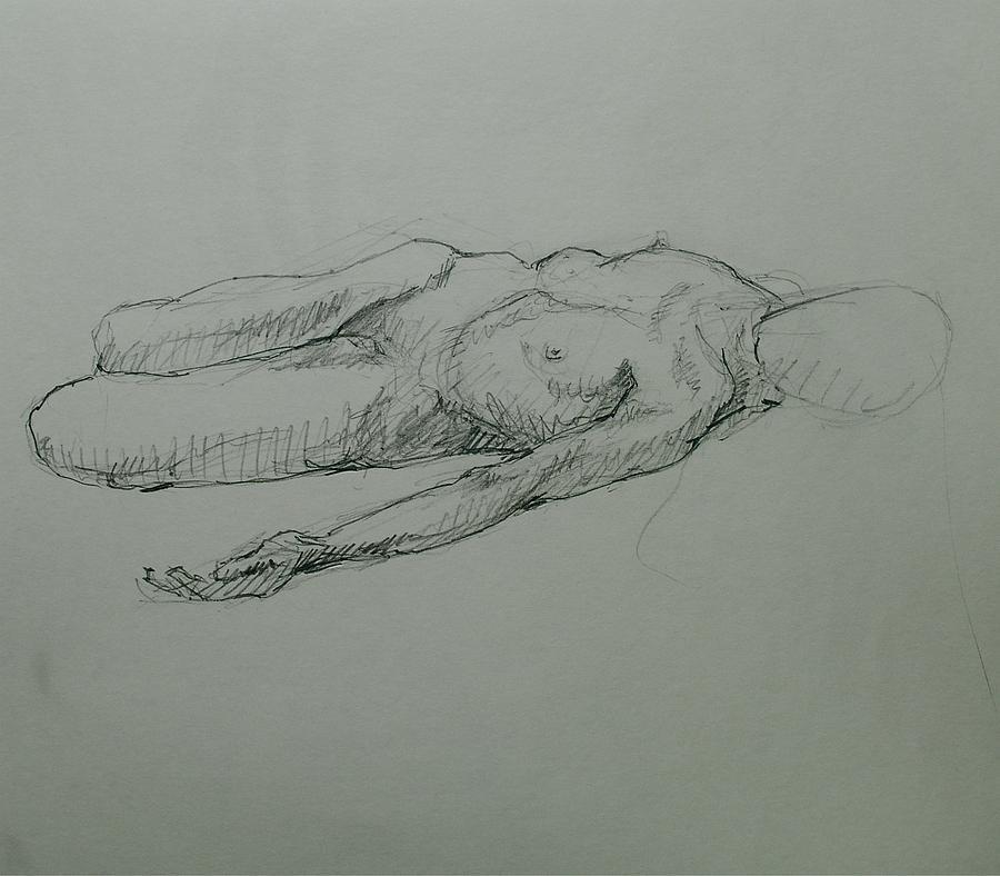 Meda Drawing by Chris  Riley