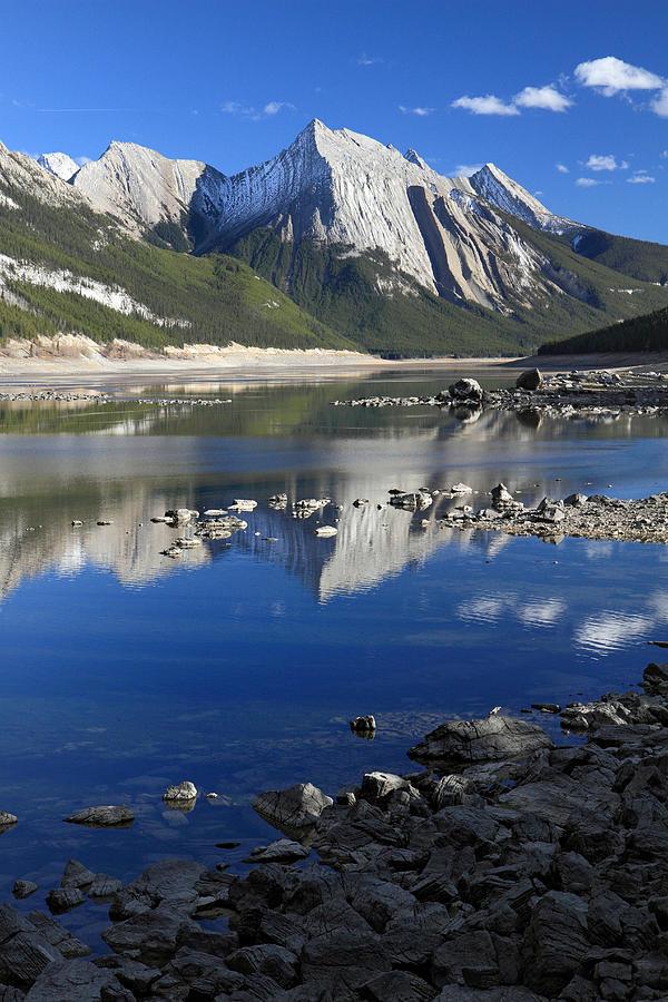 Medecine Photograph - Medecine Lake Jasper National Park Alberta Canada by Pierre Leclerc Photography