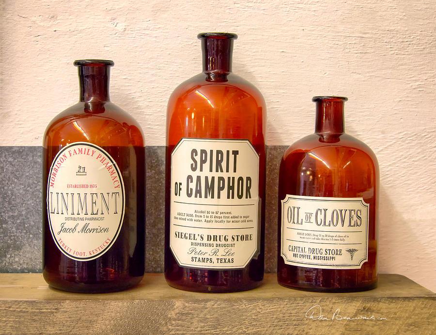 Medicine Bottles 1925 Photograph