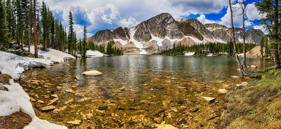 Panorama Photograph - Medicine Bow Mountain Range Lake Panorama by James BO Insogna