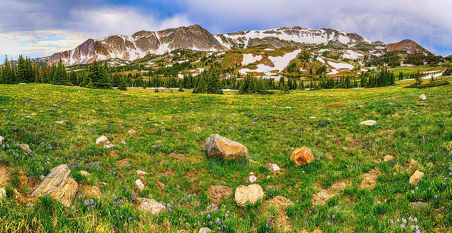 Medicine Bow Mountain Range Panorama Photograph
