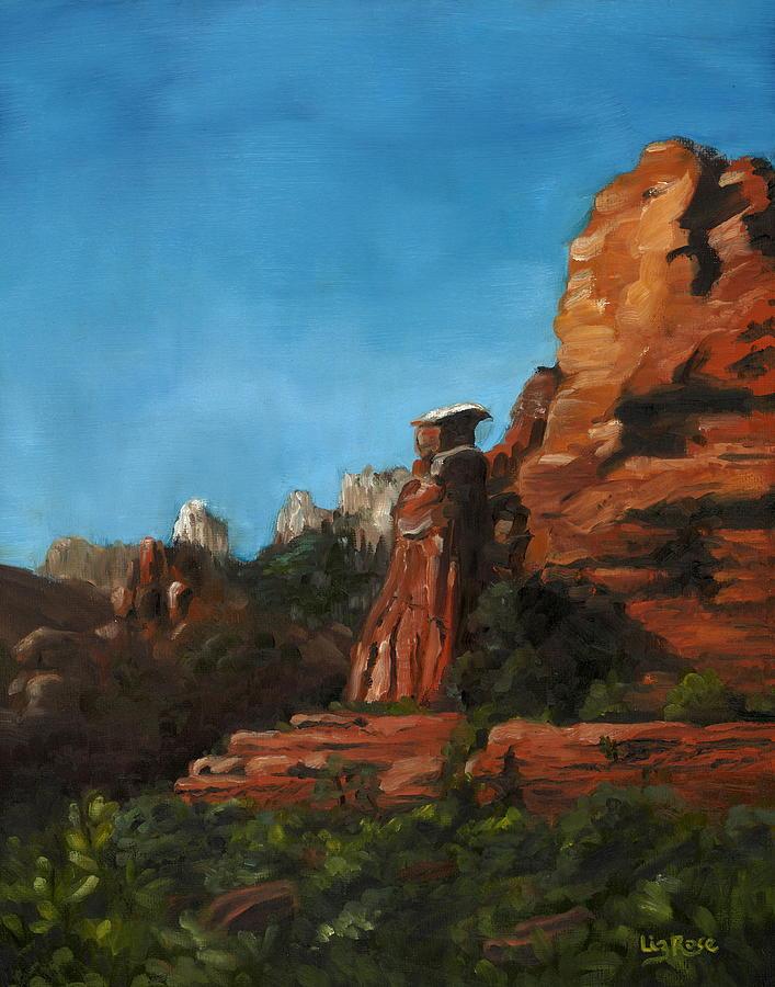 Red Rocks Painting - Medicine Man by Liz Rose