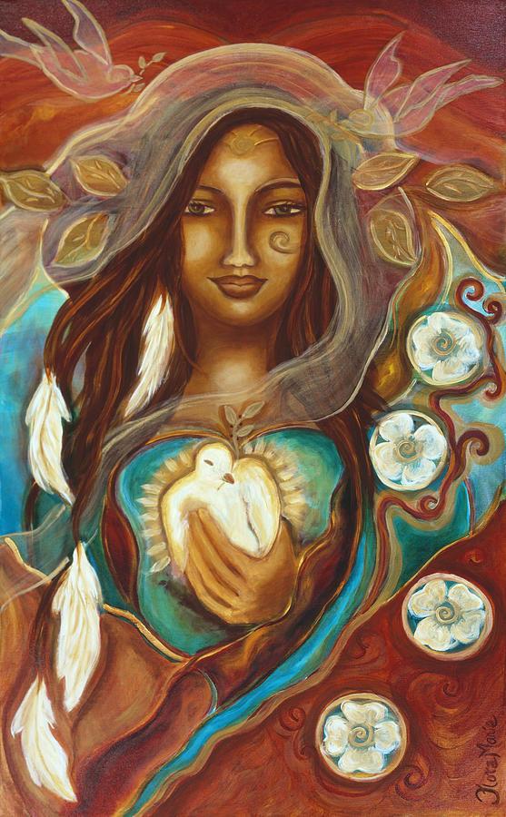 Medicine Woman Tarot By Carol Bridges: Medicine Woman Painting By Flora Marie