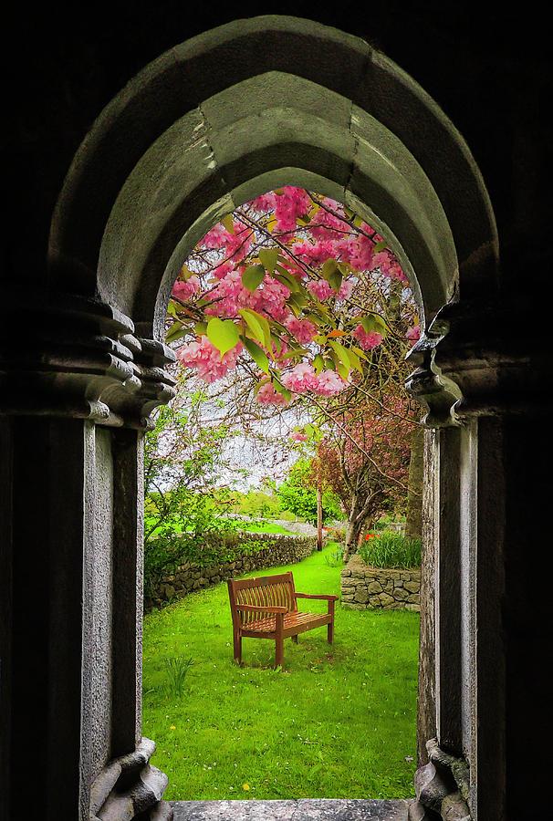 12th Century Photograph - Medieval Abbey In Irish Spring by James Truett