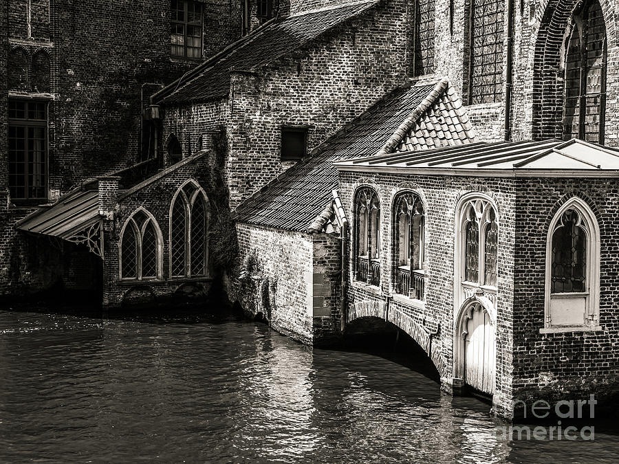 Medieval Architecture Photograph - Medieval Architecture Of Bruges by Lexa Harpell