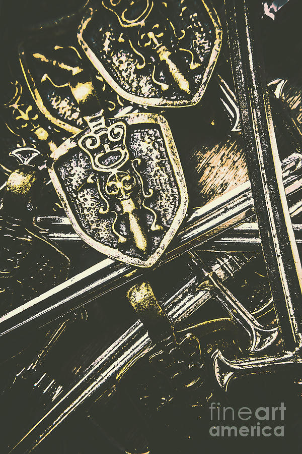 Dark Ages Photograph - Medieval Crests And Swords by Jorgo Photography - Wall Art Gallery