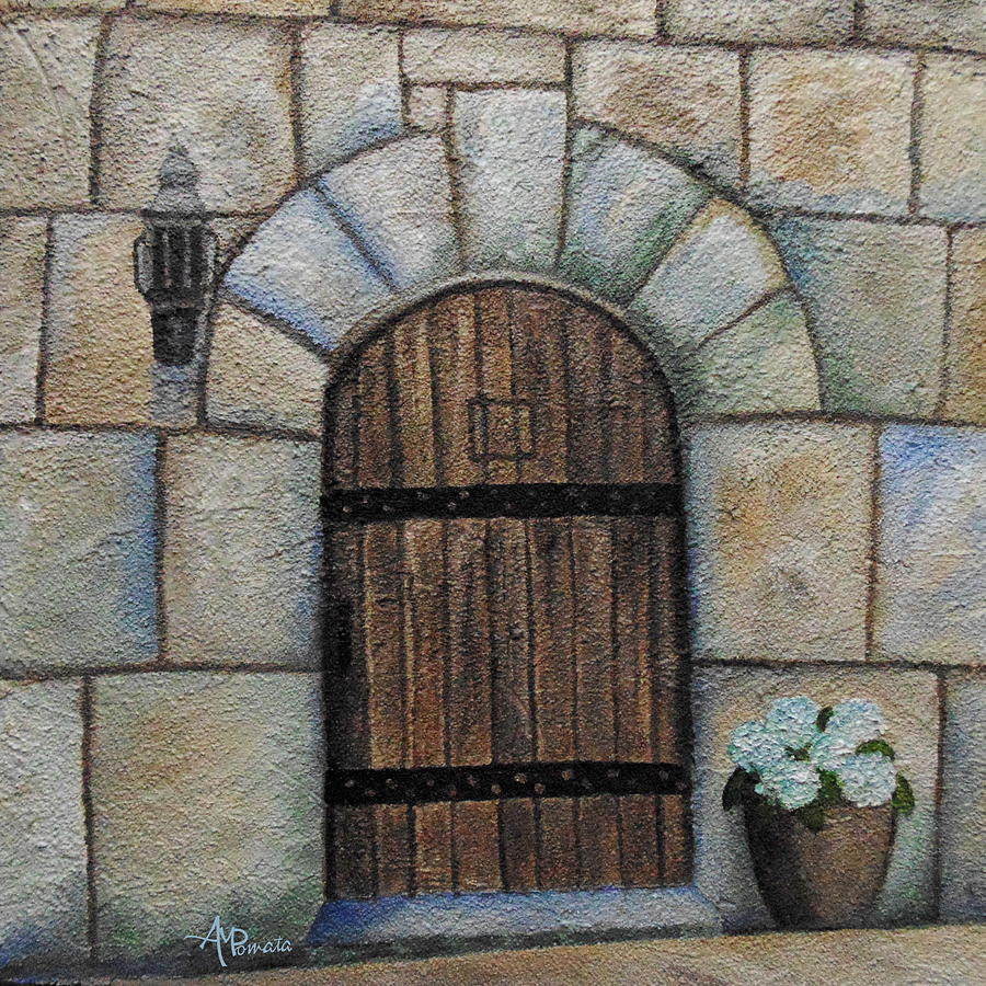 European Door Painting - Medieval Door by Angeles M Pomata & Medieval Door Painting by Angeles M Pomata pezcame.com