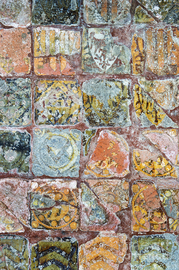 Medieval Floor Tiles Pattern Photograph by Tim Gainey