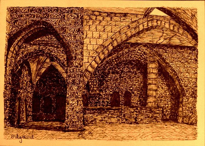 Medieval I Drawing by Edgard Loepert