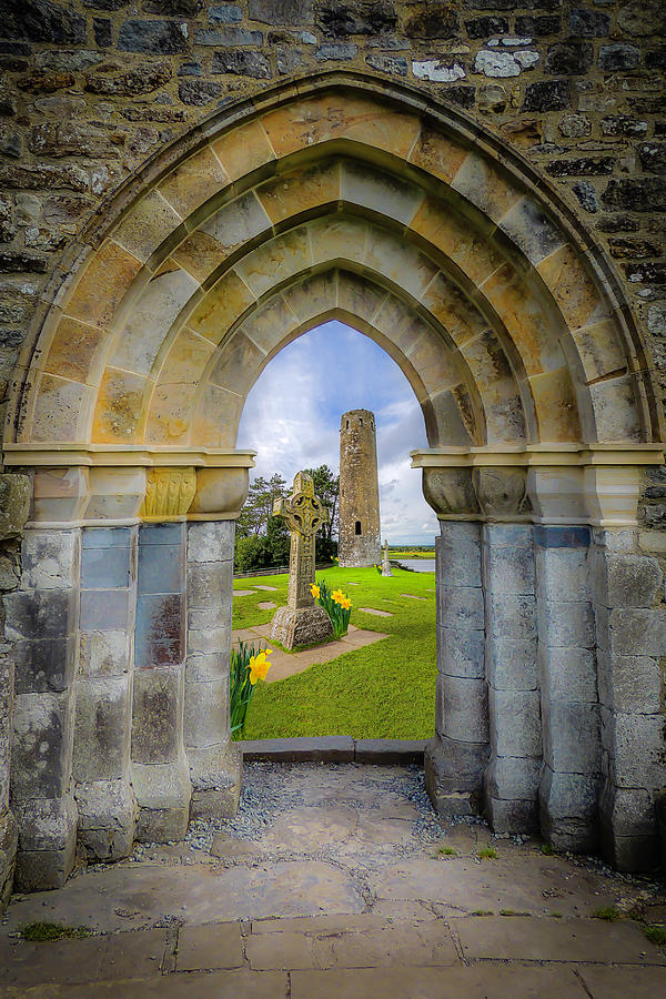 Clonmacnoise Photograph - Medieval Irish Countryside by James Truett