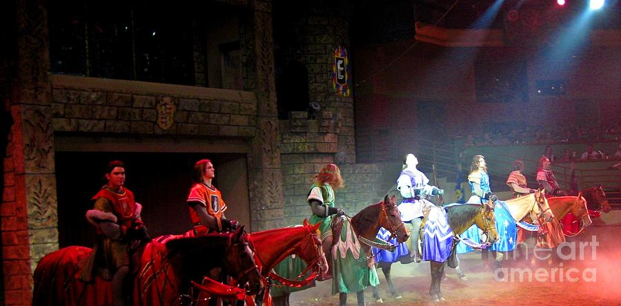 Knights Photograph - Medieval Times Dinner Theatre In Las Vegas by John Malone