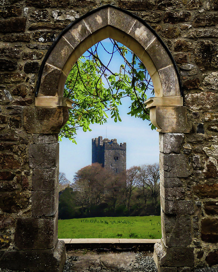Clonmacnoise Photograph - Medieval Vista Of Dysert Odea Castle by James Truett