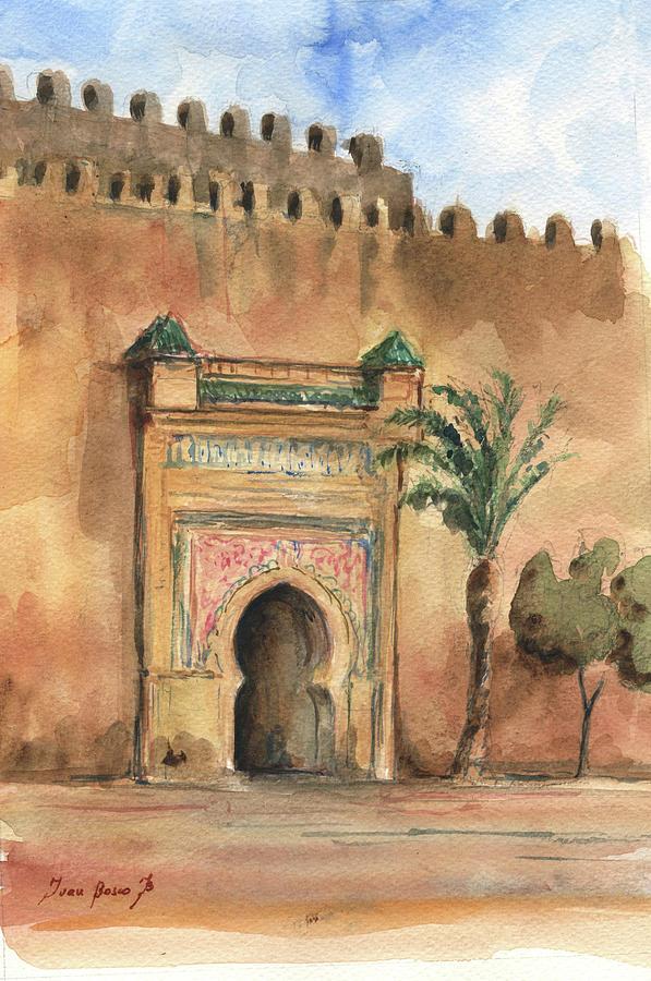 Medina Morocco Painting - Medina Morocco,  by Juan Bosco