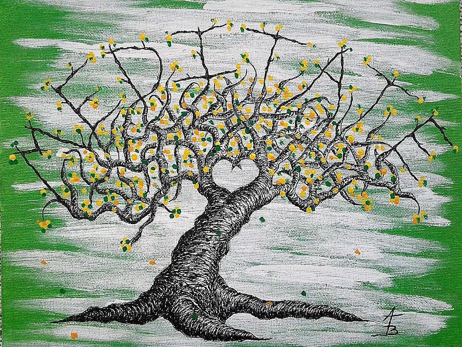 Meditate Love Tree by Aaron Bombalicki