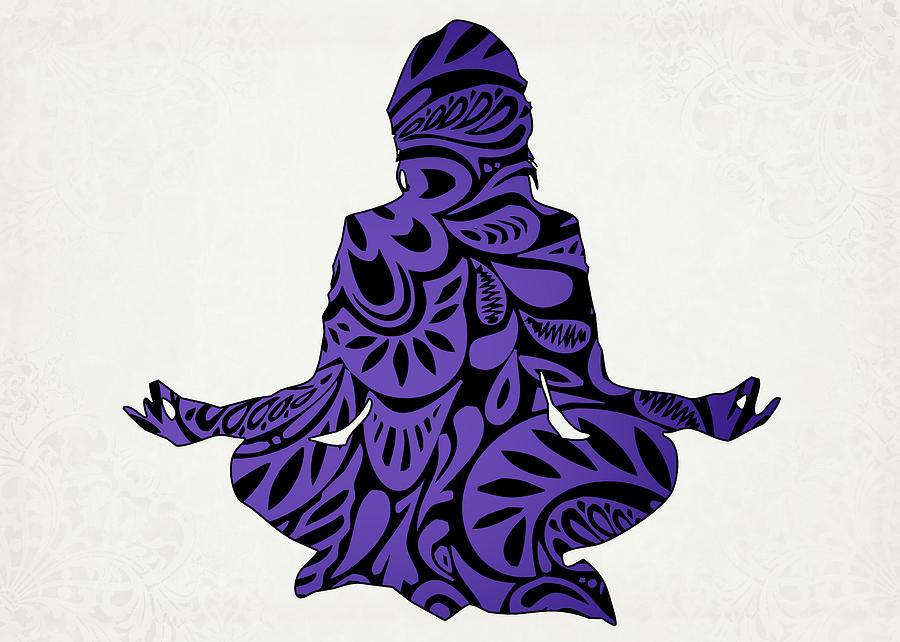 Meditate Digital Art - Meditate Ultraviolet by Ricky Barnard