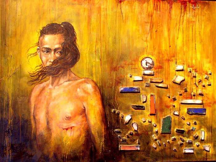 Meditation Painting - Meditation 2 by Ixchel Amor