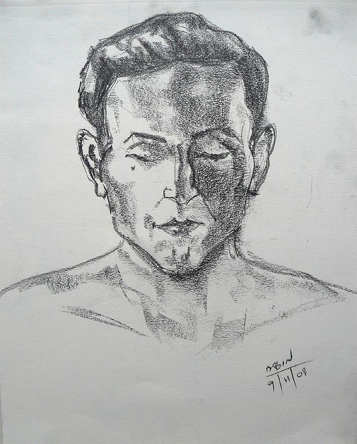 Portrait Drawing - Meditation by Abin Raj