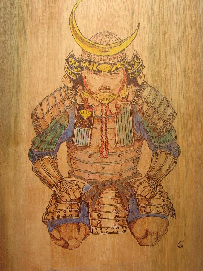 Samurai Pyrography - Meditation by Carlos Gayol