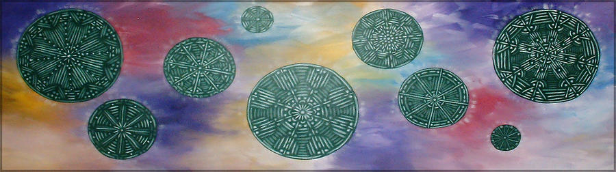 Green Painting - Meditation by Danielle Reeder
