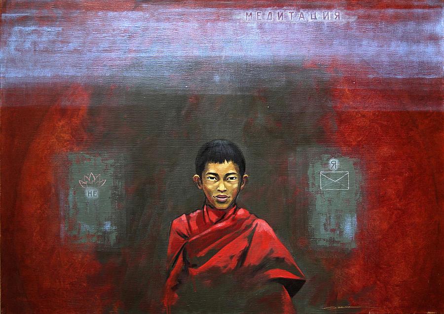 Meditation Painting by Dmitrij Pljonkin
