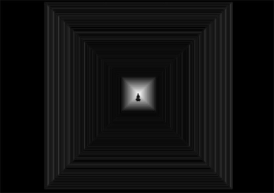 Meditation Digital Art by Marcelo Macedo Flores Macedo