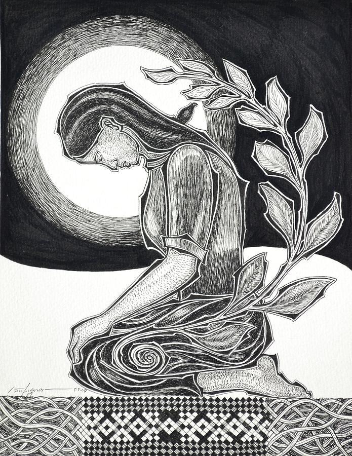 Meditation Drawing - Meditation by Raul Agner