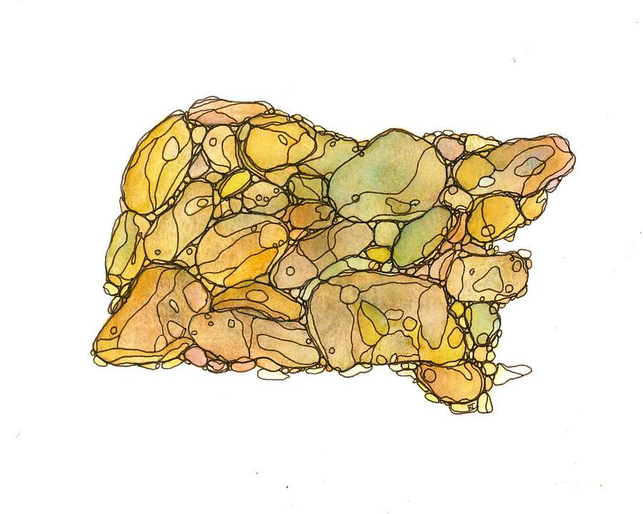 Rock Painting - Meditation Rocks 1 by Katie Ree