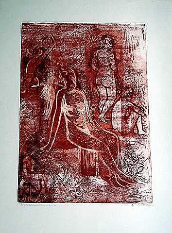 Meditation Print by Samah Fahmy