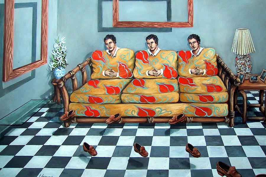 S Painting - Meditation by Valerie Vescovi