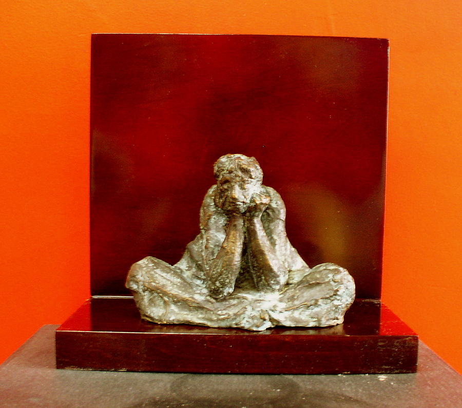 Figure Sculpture - Meditation by Victor Amor