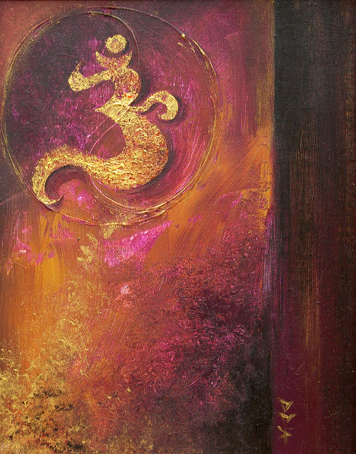 Ohm Om Mantra Yoga Spiritual Buddhist Meditationabstract Painting - Meditations by Dina Dargo