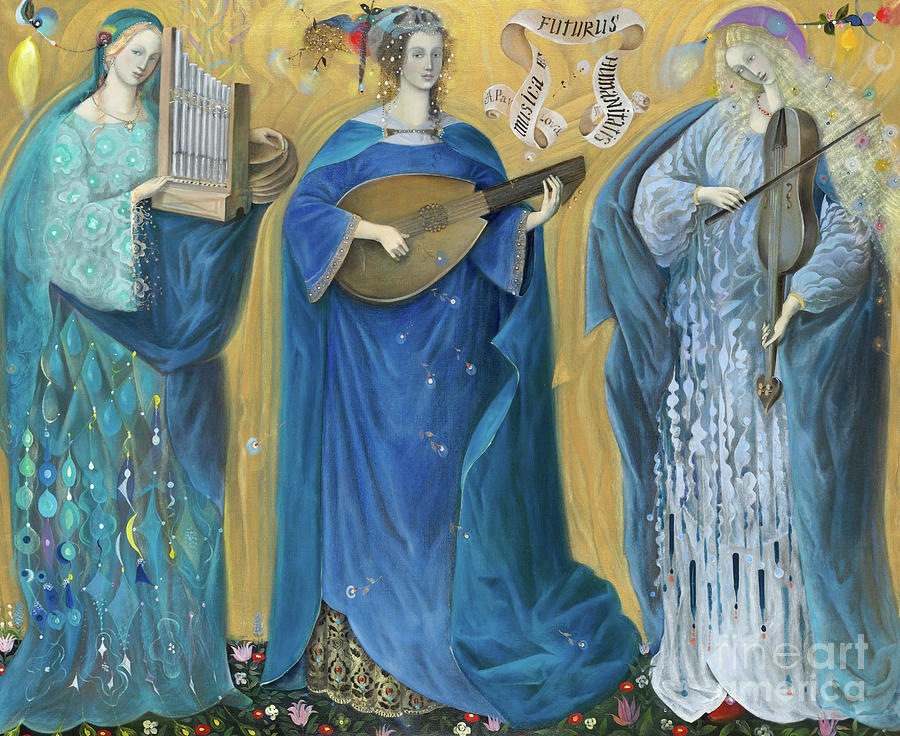 Holy Trinity Painting - Meditations On The Holy Trinity  After The Music Of Olivier Messiaen, by Annael Anelia Pavlova