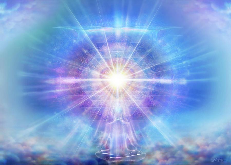 Meditator Mixed Media - Meditator Heart Blue H016 by Daniel Holeman