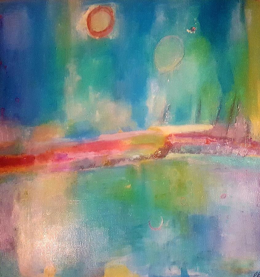Abstract Painting - Mediterranean Dream by Patricia Byron