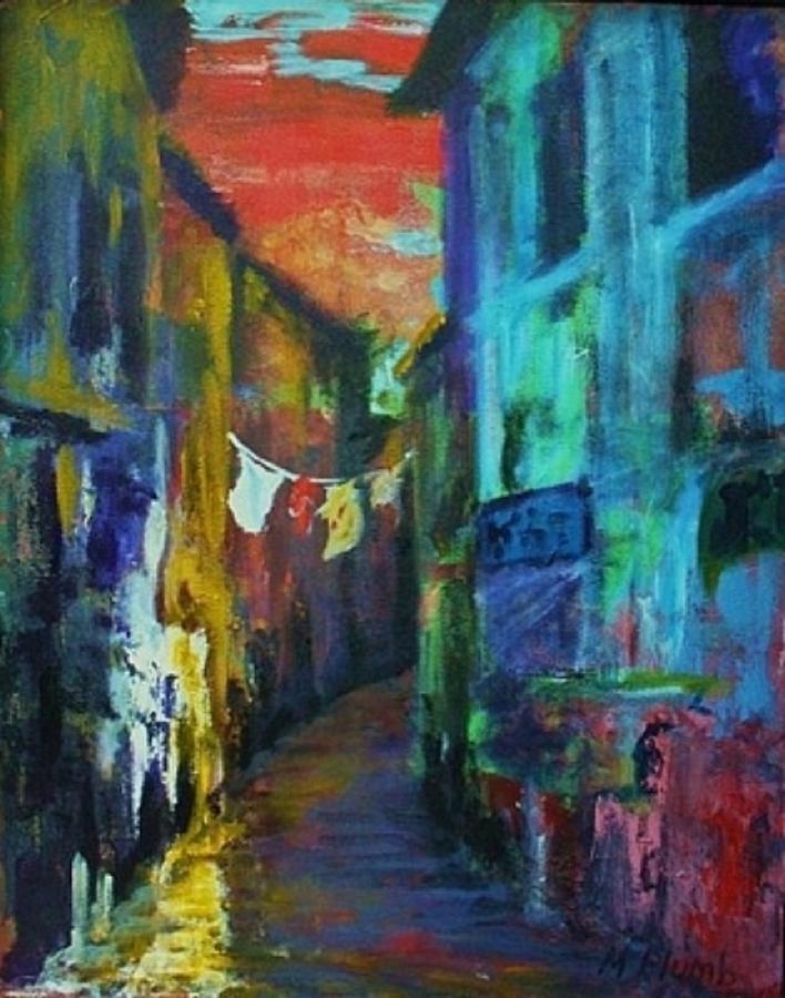 Italy Painting - Mediterranean Dusk by Margaret  Plumb